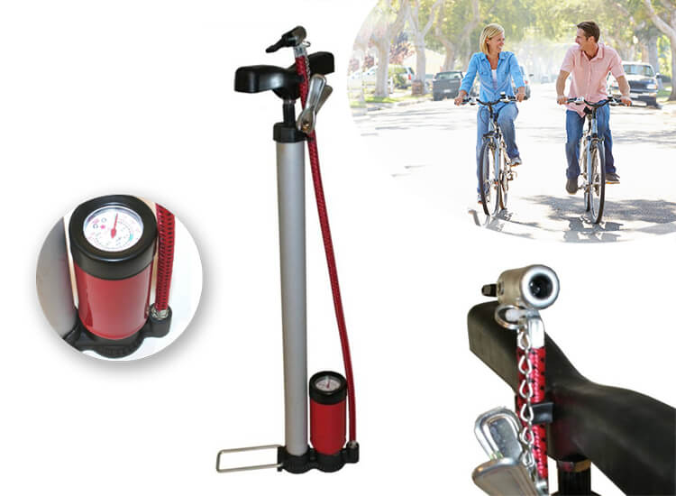 Benson fietspomp met manometer