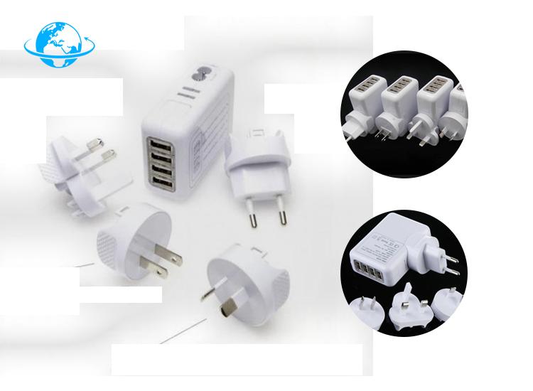 Bellson USB Wereldstekker 4 USB Poorten Wit