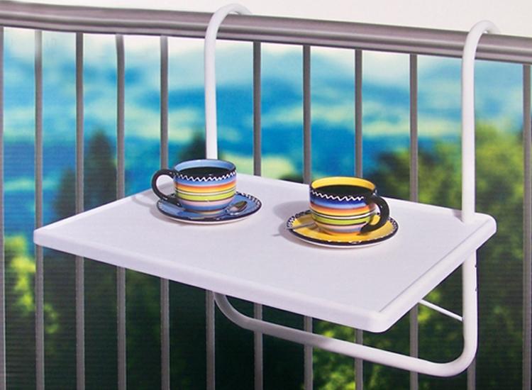 Inklapbare balkontafel zonder poten - Alle ruimte op je balkon of loggia - Zonder poten,Inklapbaar,Makkelijk op te bergen,Op werkdagen voor 16.00 besteld = morgen in huis