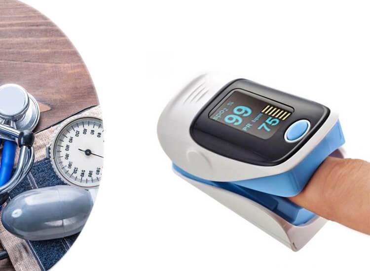 Fingertip Pulse Oximeter - Hartslagmeter - Zuurstofmeter - Blauw