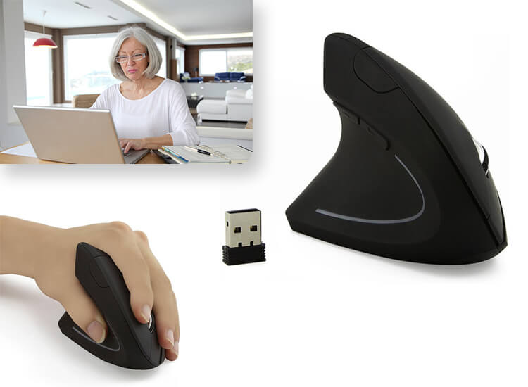 Wireless Ergonomic Vertical Mouse CM0090E linkshandigge