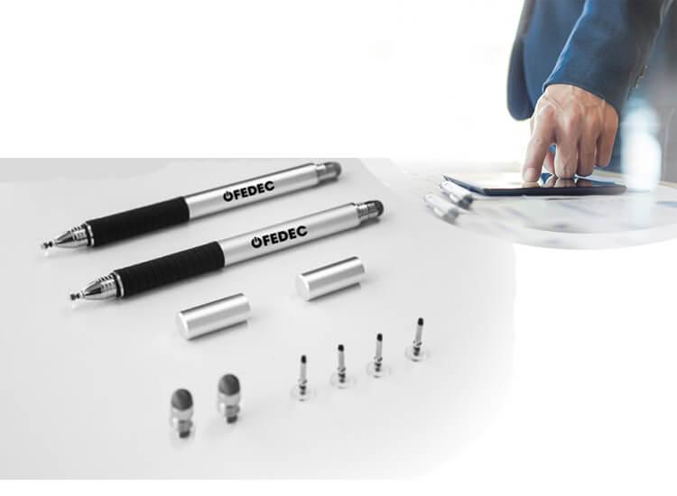 Precisiepen voor je tablet, mobiel, Ipad en e-reader Extreem nauwkeurige stylus Zilver