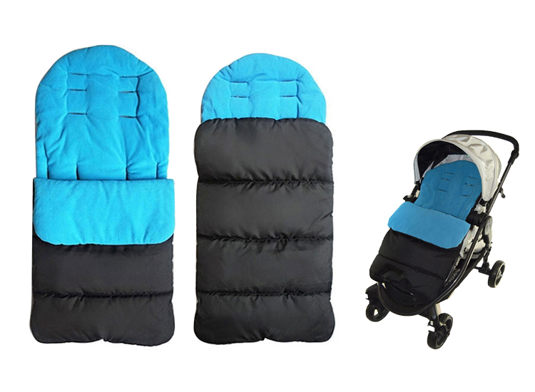 Foto Fedec Comfortbag Voetenzak - Babywagen - wandelwagen - Buggy - Blauw