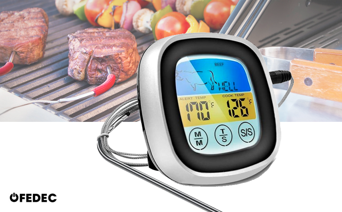 Digitale vleesthermometer met touchscreen - EN-2022C