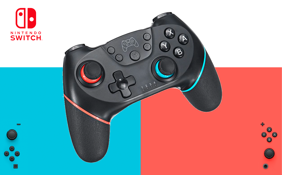 Gamecontroller - Rood/Blauw