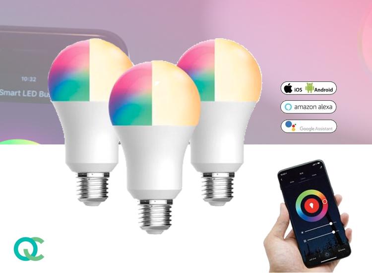 FlinQ E27 Smart WIFI Lamp 3-pack