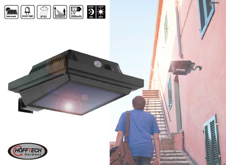 Hofftech Wandlamp Solar LED Met Sensor