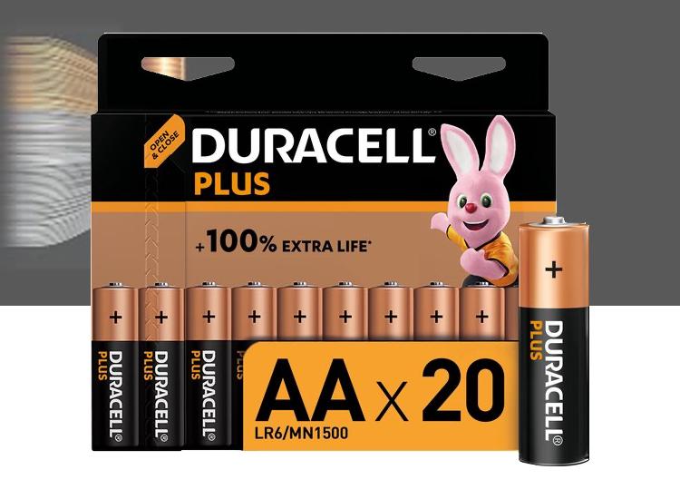 Duracell Plus Batterijen - 20-pack - AA of AAA