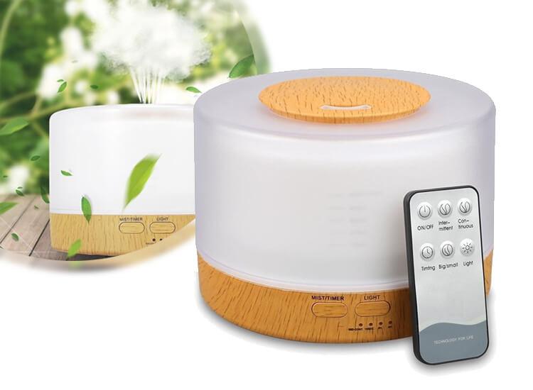 4-in-1 Aroma Diffuser - Luchtbevochtiger - Aromatherapie - Luchtreiniger - Lamp