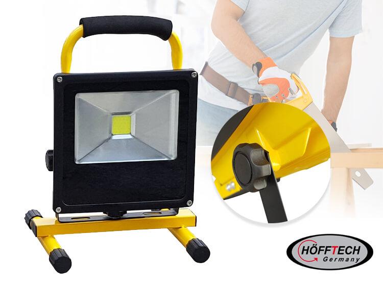 H�fftech oplaadbare led-straler - Een snoerloze en oplaadbare bouwlamp