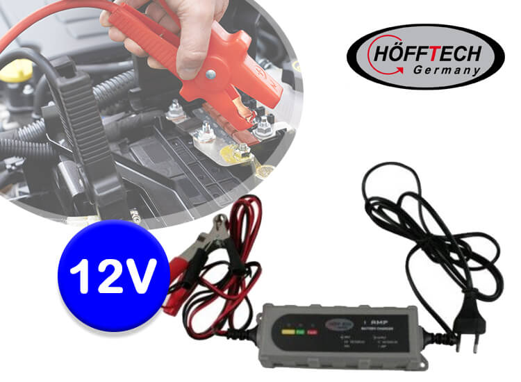 Dagaanbieding - Hofftech druppellader 12V - De slimme accu-oplader dagelijkse koopjes