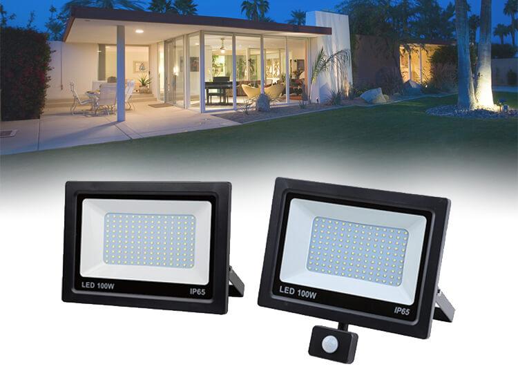 Hofftech SMD LED stralers met en zonder sensor - met vermogen tot 100W