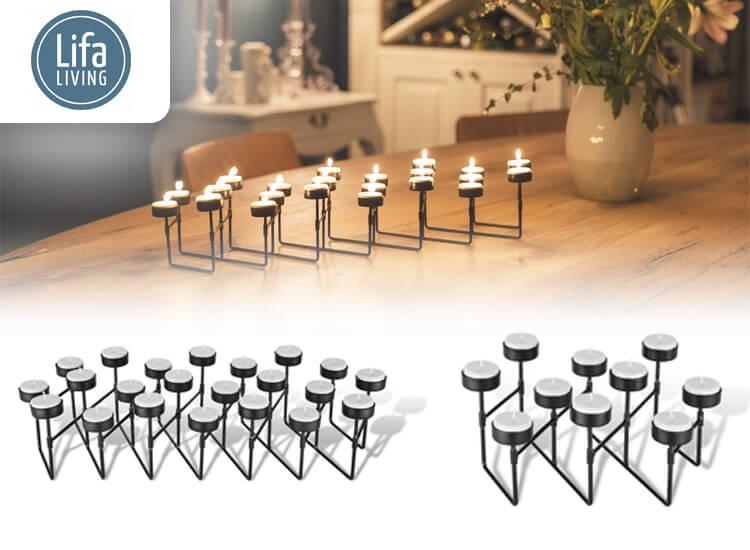 Waxinelichthouder - Uitvouwbare kandelaar - beschikbaar in twee varianten