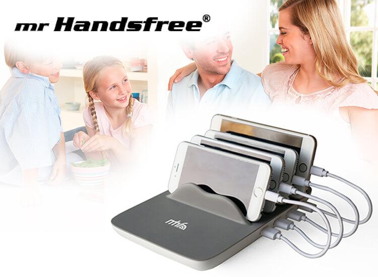 Mr Handsfree Family Charger - 5 smartphones tegelijkertijd opladen