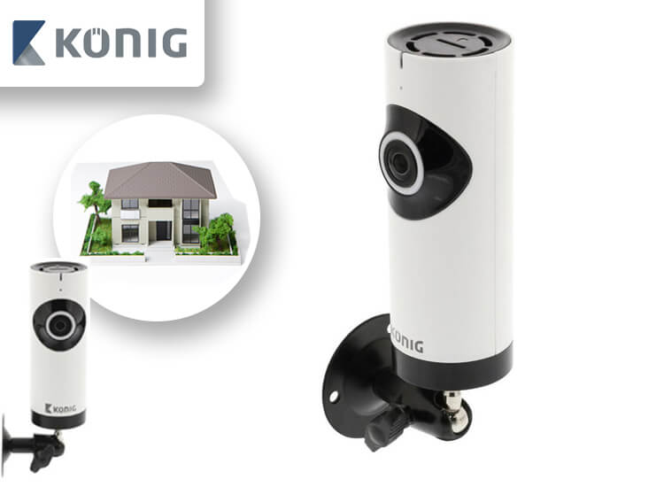 K�nig HD IP-panorama camera - 1280x 720 - Uitgerust met een fisheye-lens