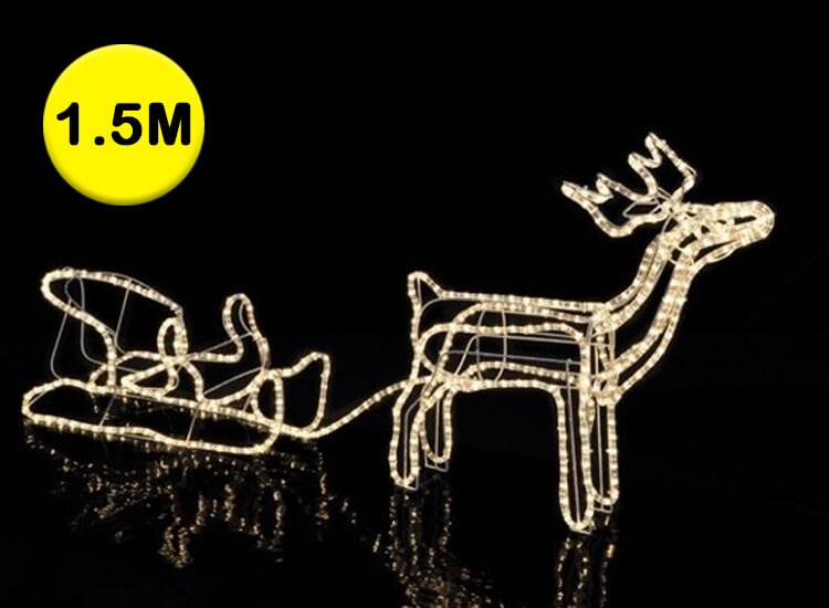 Rendier met slee en 432 led-lichtjes Kerstverlichting voor binnen en buiten