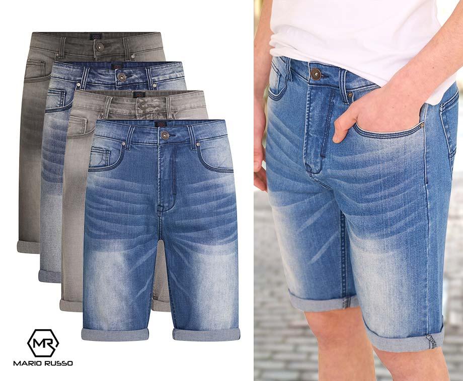 Mario Russo Denim Shorts - Verkrijgbaar in 4 kleuren