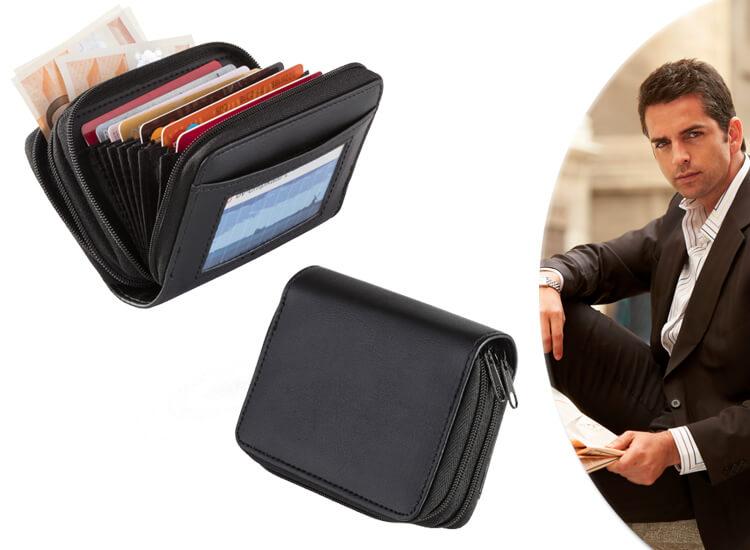 Mini creditcard portemonnee - Voor circa 12 pasjes en geld