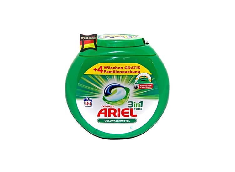 Afbeelding van ARIEL 3 in 1 pods 54+4 wasbeurten 1566GR
