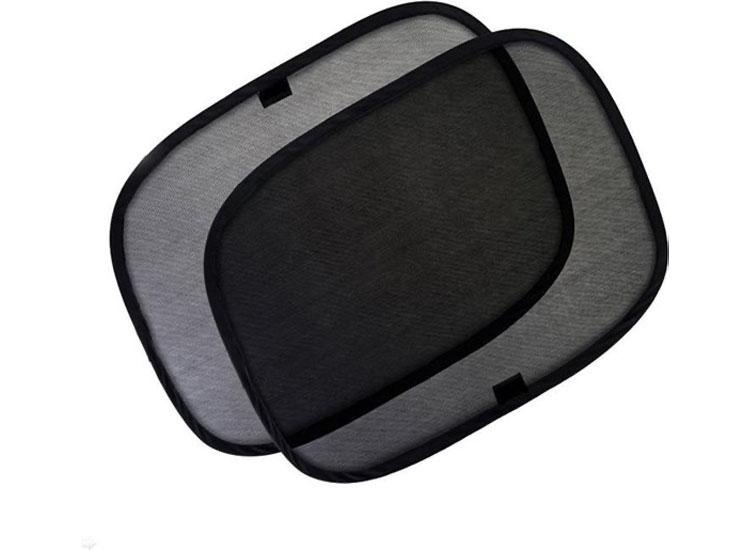 Fedec Auto-zonneschermen - 2 stuks - Blokkeert UV-stralen - Zwart