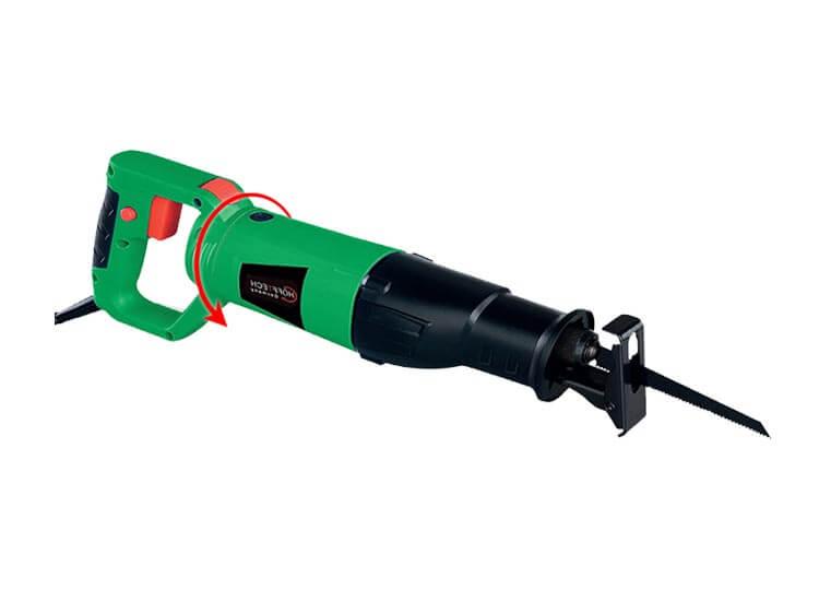 Höfftech Reciprozaag - 710W - 115mm - Met draaibaar handvat voor gips, hout en metaal