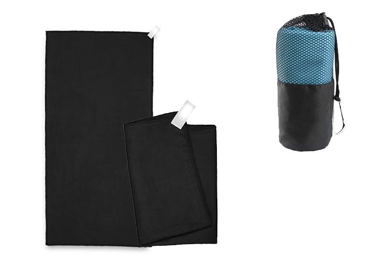 Microvezel Reishanddoek Set - 2 Stuks - Zwart