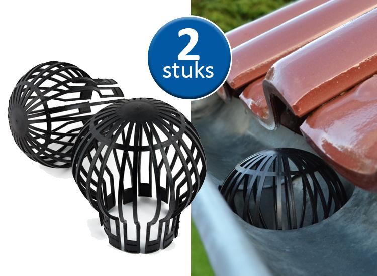 Dagaanbieding - Kinzo Dakgootbeschermers - Voorkom bladeren in de regenpijp - 2 Stuks - Zwart dagelijkse koopjes