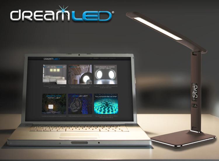 Dreamled LED Bureaulamp - Dimbaar - Bruin/Zwart Lederen Look