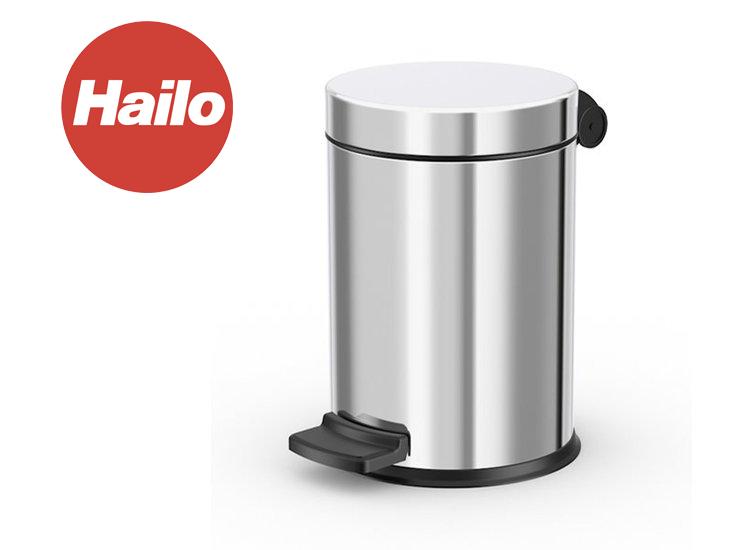 Hailo pedaalemmer solid s 4l, rvs, met gegalvaniseerde binnenemmer