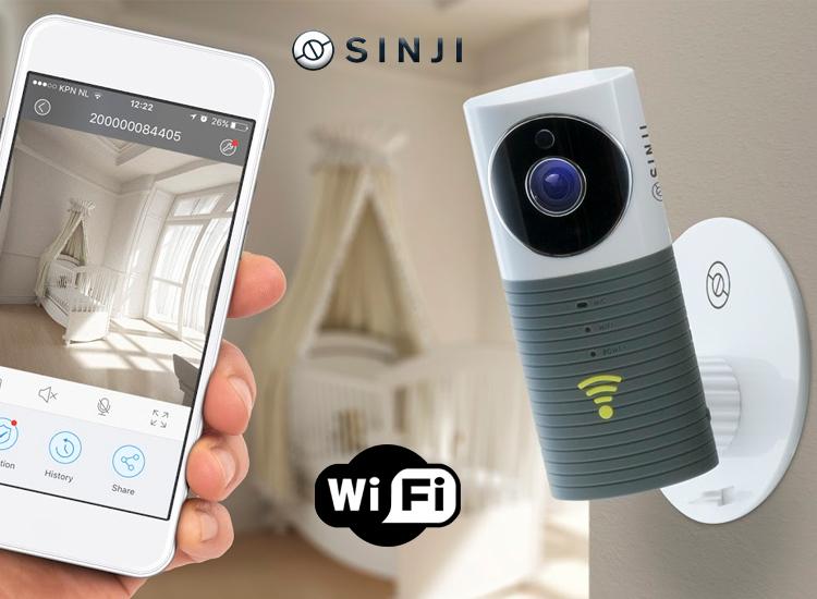 Afbeelding van Sinji Smart Wifi security camera met night vision