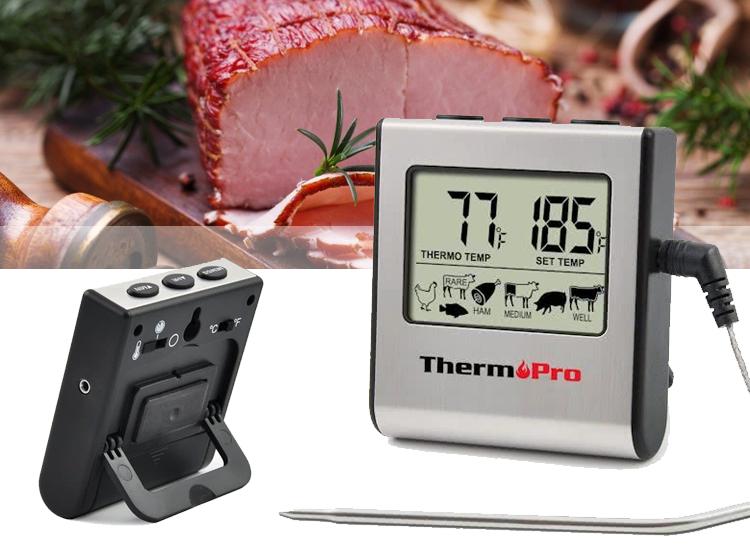 Thermo Pro TP-16 digitale vleesthermometer - Vlees en kip perfect gegaard en vrij van bacteriën