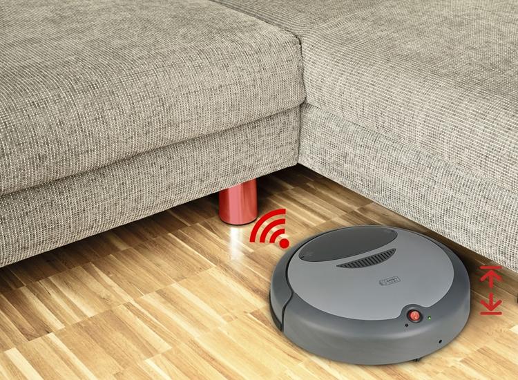 Afbeelding van Robot Vacuum Cleaner - Lucys Home - 14 Watt - intelligente robotstofzuiger