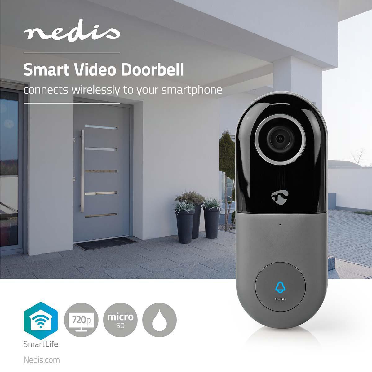 Nedis Videodeurbel - HD 720P - Bediening via App