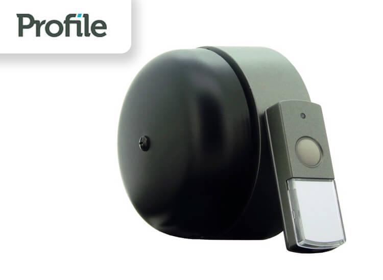Profile deurbel Pesante draadloos 120 meter mechanische bel