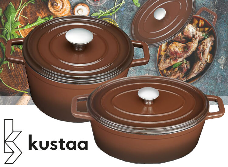 Kustaa gietijzeren Caserole ronde of ovalen pan – Een stoofpan die jaren meegaat