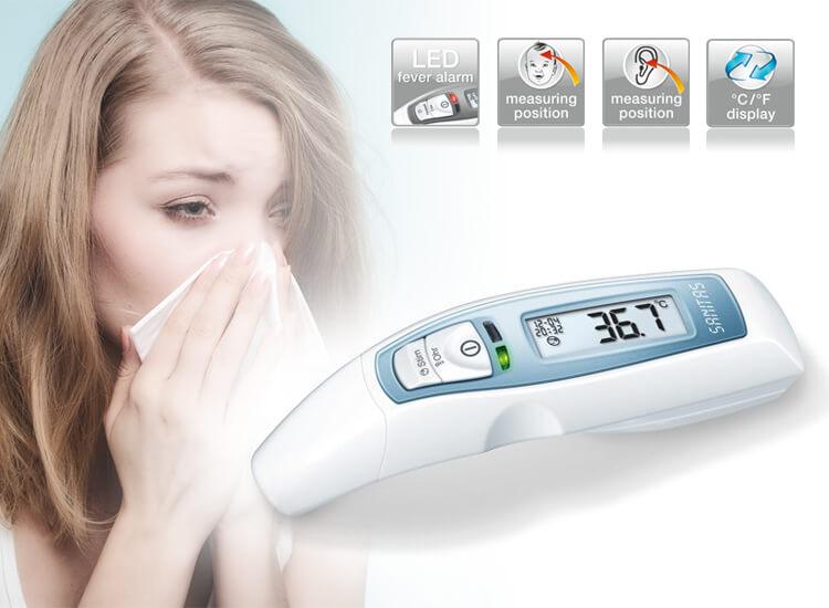 Sanitas SFT 65 multifunctionele koortsthermometer