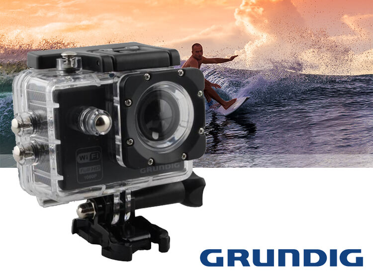 Grundig HD action camera 720P waterdicht zwart