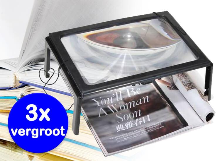 Dagaanbieding - Leesloupe-met-licht-Vergroot-3x dagelijkse koopjes