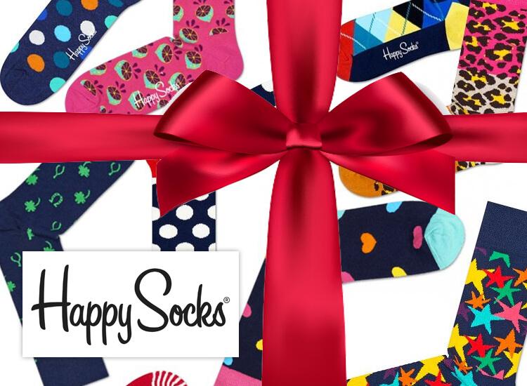 HS Happy Socks – 6 paar – maat 41-46 – Leuk om cadeau te geven