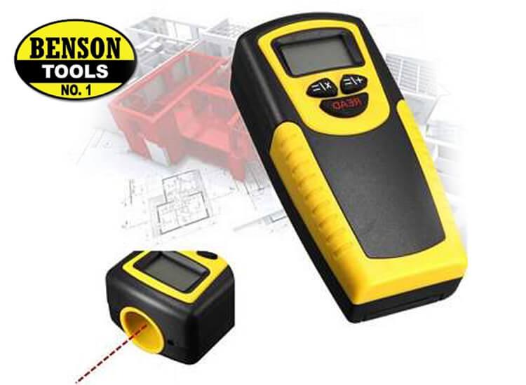 Benson digitale afstandsmeter Eenvoudig meten van afstanden, oppervlaktes en volume