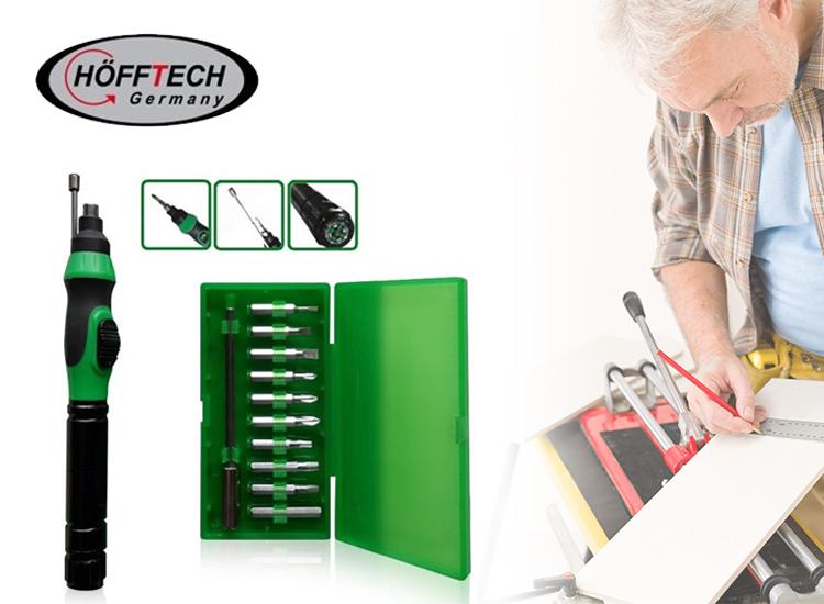 Elektrische precisie schroevendraaier set - Met 10 bits