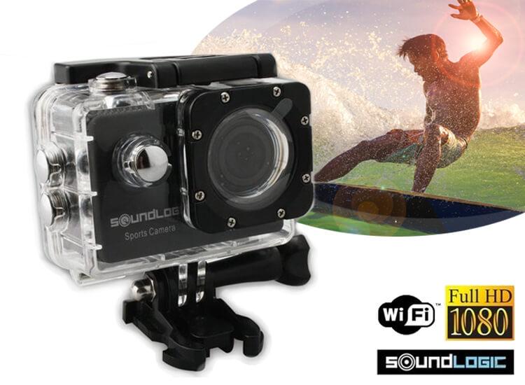 Soundlogic Action Pro 1080P Ultra HD Camera waterproof zwart