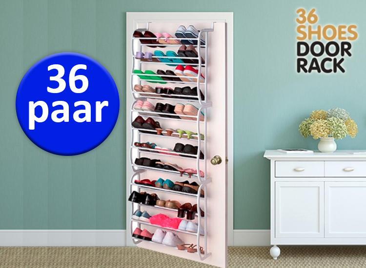 Bespaar ruimte en verhoog je eigen comfort met het geweldige deurhanger schoenenrek (36 paar)! dankzij deze ...