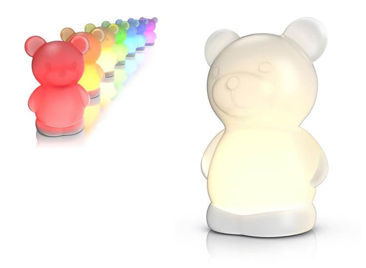 Led-nachtlampje voor kinderen Bedlampje 'beertje' voor de kinderkamer